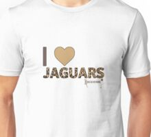I Love Jaguars Unisex T-Shirt