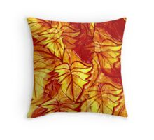 leaves tampered with! Throw Pillow