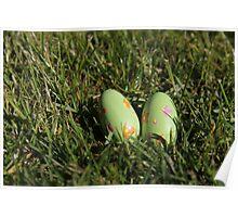 Green Easter eggs Poster