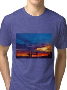 Multi Color Sunset Tri-blend T-Shirt