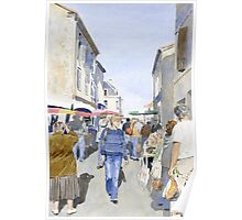 Market day at Piegut, France Poster