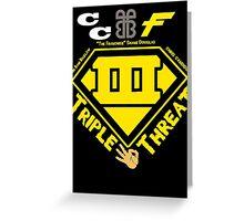 ECW Triple Threatt V2 Greeting Card