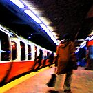 Orange Line after work by Dave McBride