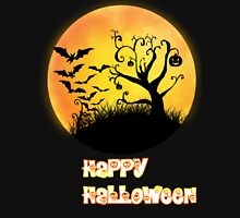 Halloween Moon Womens Fitted T-Shirt