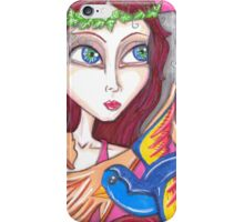Retro, Fantasy big eyed Fairy artwork iPhone Case/Skin