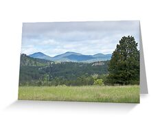 Mountains and Prairies Greeting Card