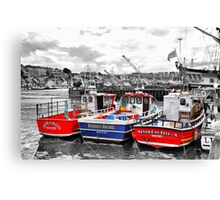 Odd One Out - Whitby Harbour Canvas Print