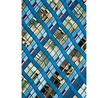 Wavy Reflections on a Building at Harbourfront Photographic Print