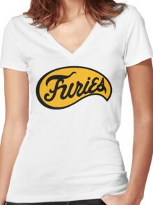 The Baseball Furies Women's Fitted V-Neck T-Shirt