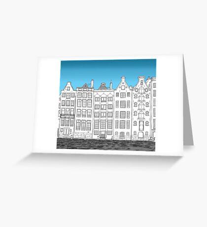 Dancing houses, Amsterdam Greeting Card