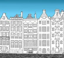 Dancing houses, Amsterdam by jankoba