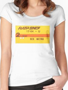 FRENCH Ticket RER-RATP  Women's Fitted Scoop T-Shirt
