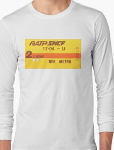 FRENCH Ticket RER-RATP  Long Sleeve T-Shirt
