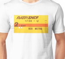 FRENCH Ticket RER-RATP  Unisex T-Shirt
