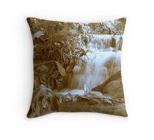 Felling Falls in Sepia Throw Pillow