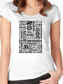 Writer's Block • No Surprises Women's Fitted Scoop T-Shirt