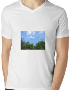 Trees and sky  Mens V-Neck T-Shirt