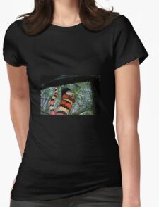 Snake Womens Fitted T-Shirt