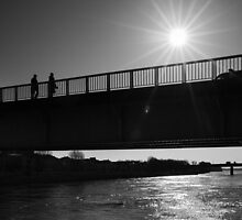 Dark Sunlight over the Bridge - Arles, France - 2010 by Nicolas Perriault