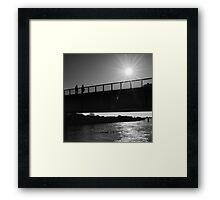 Dark Sunlight over the Bridge - Arles, France - 2010 Framed Print