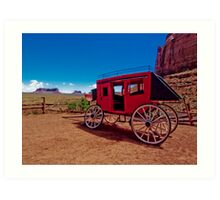 Goulding's Trading Post Stagecoach Art Print