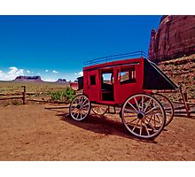 Goulding's Trading Post Stagecoach Photographic Print