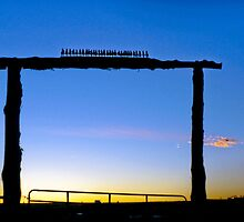 Ranch Gate in Taos by lckt13