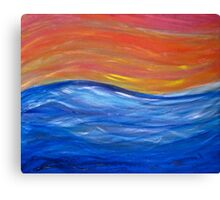 The Wavy Wave Canvas Print