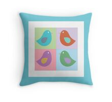 Birds - Pastel Throw Pillow