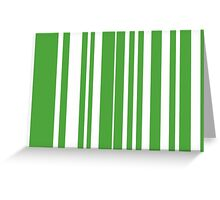 Home Hoops Green and White Greeting Card