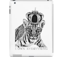 I Own Everything Little Tiger iPad Case/Skin