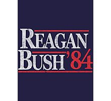 Vintage Reagan Bush 1984 T-Shirt Photographic Print