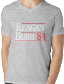 Vintage Reagan Bush 1984 T-Shirt Mens V-Neck T-Shirt