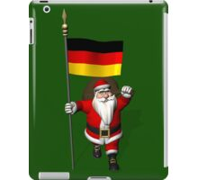Santa Claus With Flag Of Germany iPad Case/Skin