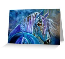 COBALT FURY Greeting Card