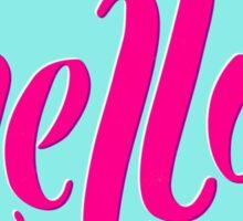 'Hello' Hand Lettered Offest Typography  Sticker