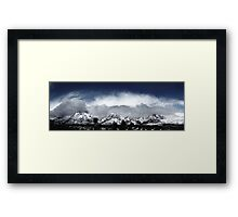 Red Rock Snow, Panoramic No. 4 Framed Print