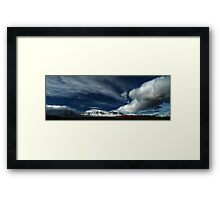Red Rock Snow, Panoramic No. 5 Framed Print