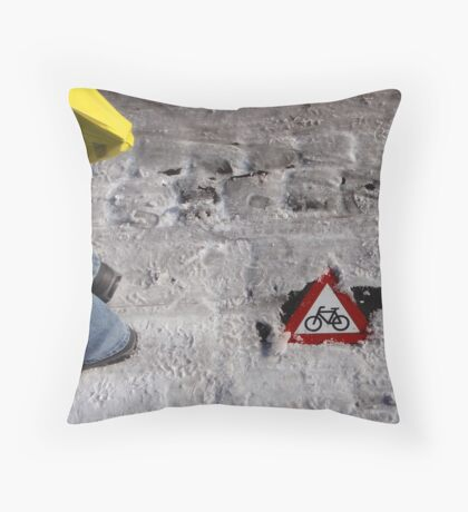 Look out! Cyclists! Throw Pillow
