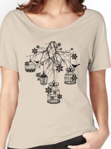 Bird Cage Chandelier Women's Relaxed Fit T-Shirt