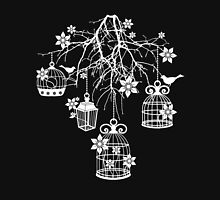 Bird Cage Chandelier (White) Unisex T-Shirt