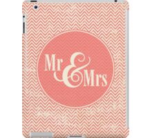 "Coral Chevron ""Mr & Mrs"" iPad Case/Skin"