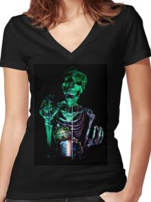 The Necromancer Women's Fitted V-Neck T-Shirt