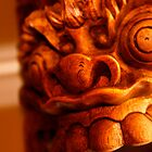 Detail of Indonesian Carved Wood Mask by seanh