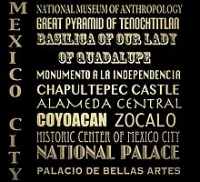 Mexico City Famous Landmarks by Patricia Lintner