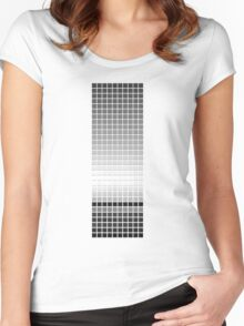Horizon - Black & White Women's Fitted Scoop T-Shirt