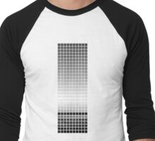 Horizon - Black & White Men's Baseball ¾ T-Shirt