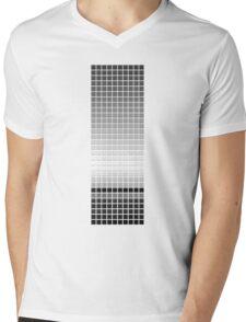 Horizon - Black & White Mens V-Neck T-Shirt