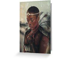 The Warrior Princess  Greeting Card