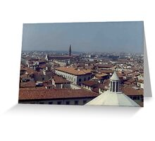 Panorama from the Duomo Greeting Card